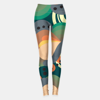 Thumbnail image of Psychedelic retro pattern Leggings, Live Heroes