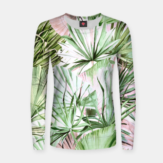 Nice watercolor tropical Sudadera para mujeres miniature