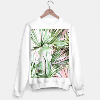 Nice watercolor tropical Sudadera regular miniature