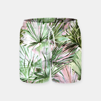 Nice watercolor tropical Pantalones de baño miniature