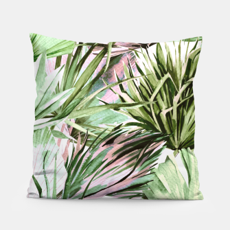 Miniatur Nice watercolor tropical Almohada, Live Heroes