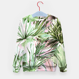 Nice watercolor tropical Sudadera para niños miniature