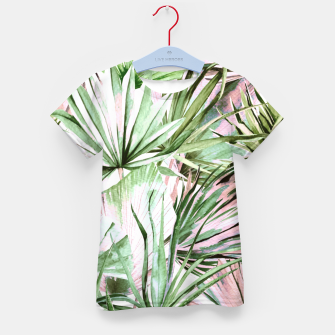 Nice watercolor tropical Camiseta para niños miniature