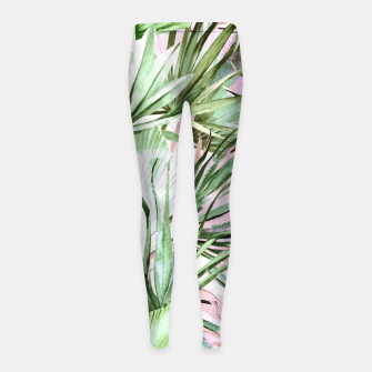 Nice watercolor tropical Leggings para niña miniature