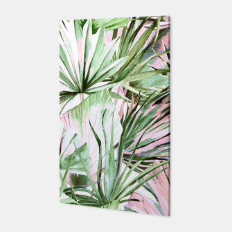Nice watercolor tropical Canvas miniature