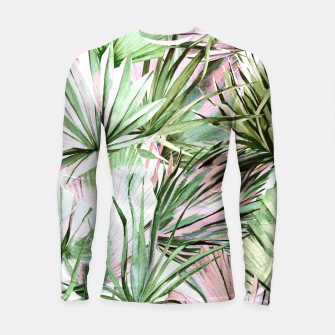 Nice watercolor tropical Longsleeve rashguard miniature