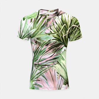 Miniaturka Nice watercolor tropical Shortsleeve rashguard, Live Heroes