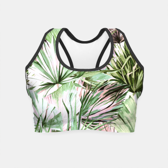 Nice watercolor tropical Crop Top miniature