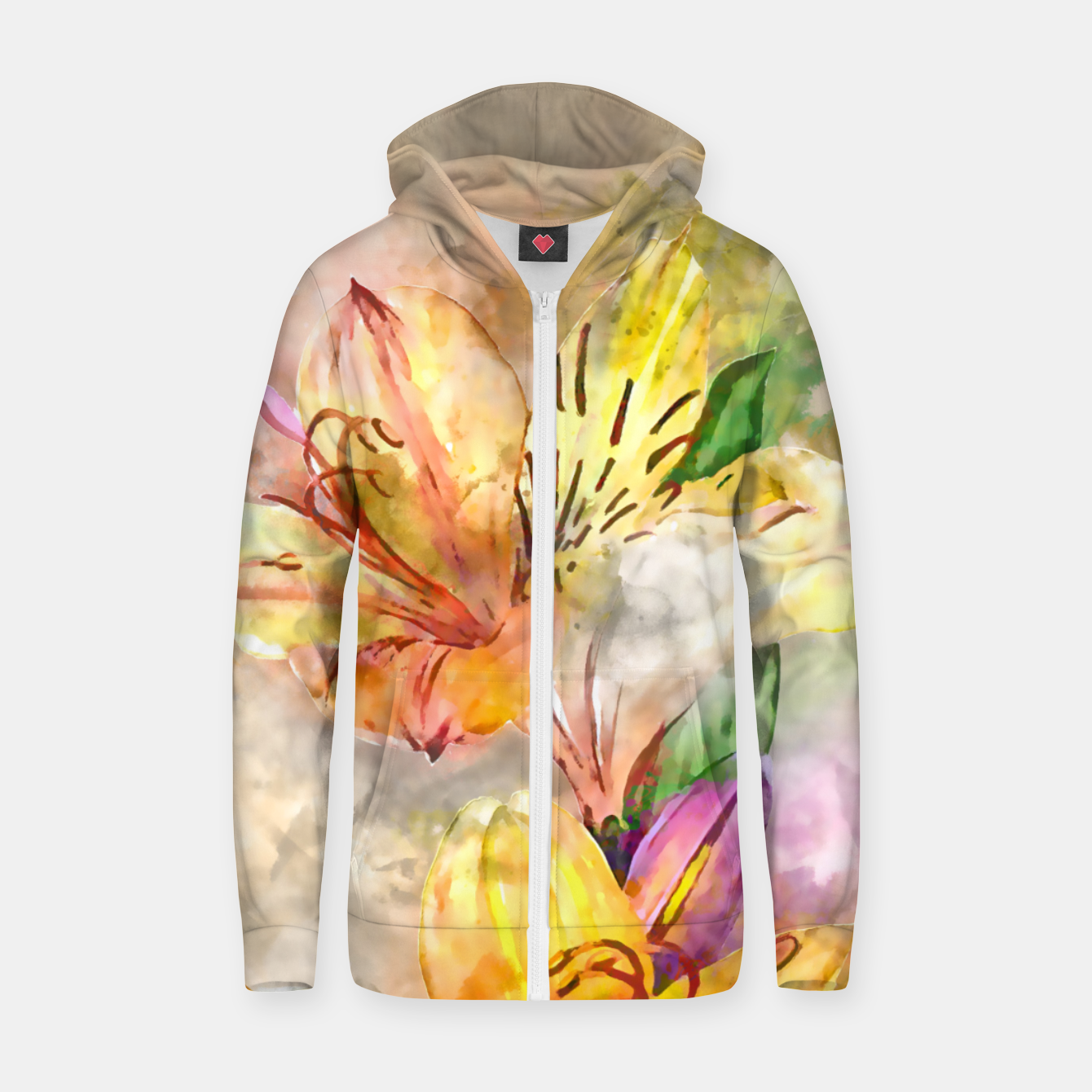 Image of Lily Stole My Heart Zip up hoodie - Live Heroes