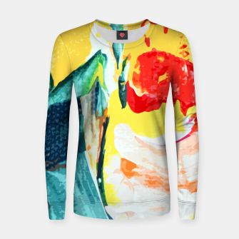 Miniatur Color Collage Women sweater, Live Heroes