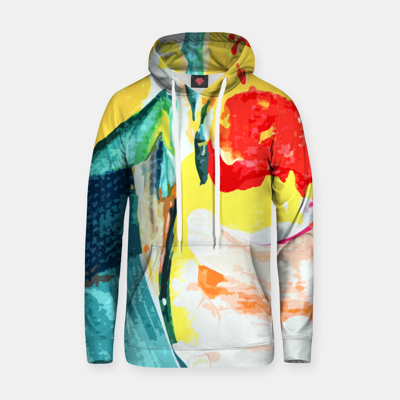 Image of Color Collage Hoodie - Live Heroes