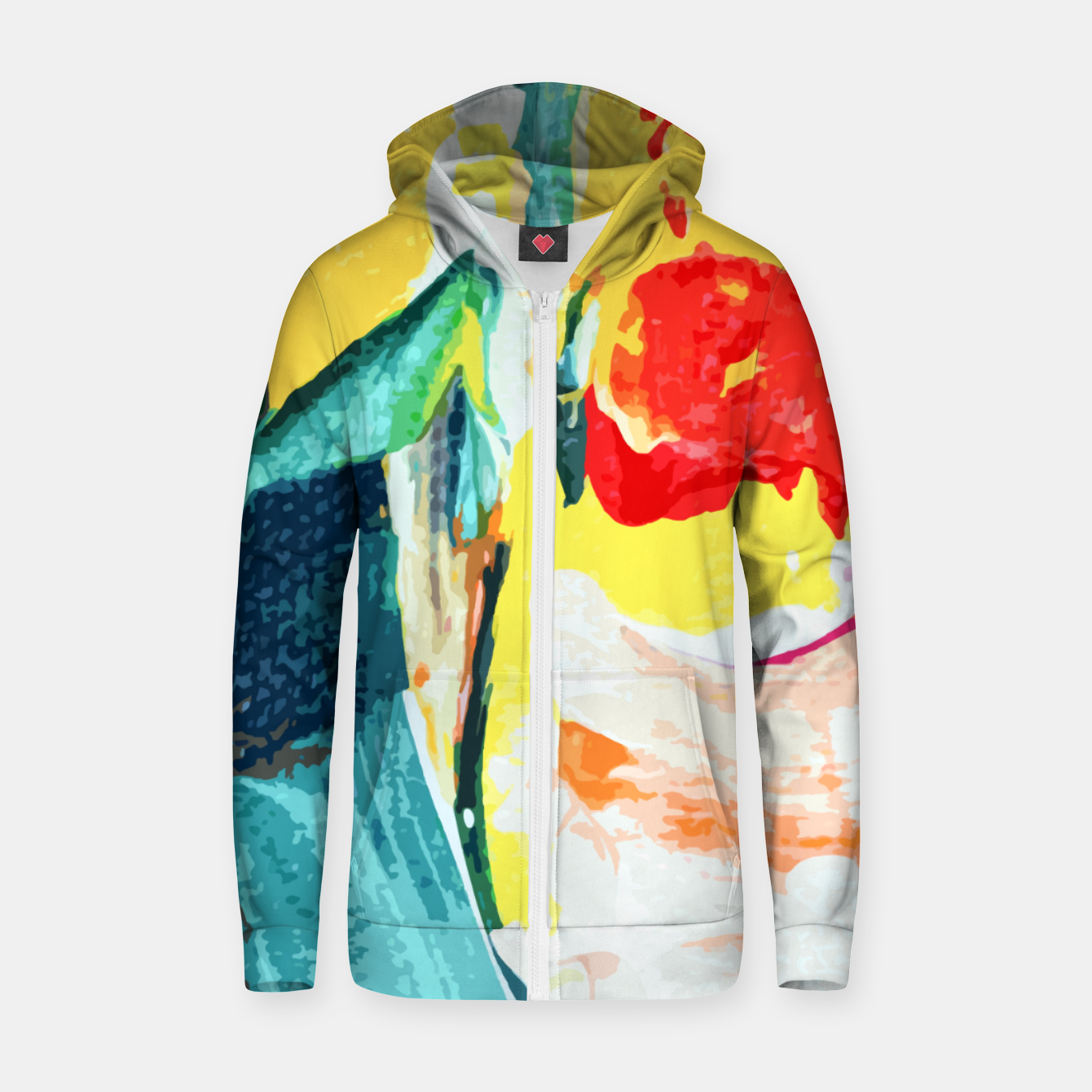 Image of Color Collage Zip up hoodie - Live Heroes