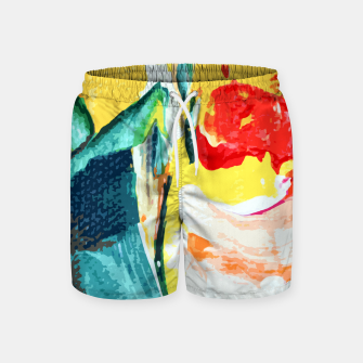 Thumbnail image of Color Collage Swim Shorts, Live Heroes