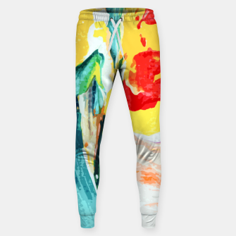 Thumbnail image of Color Collage Sweatpants, Live Heroes