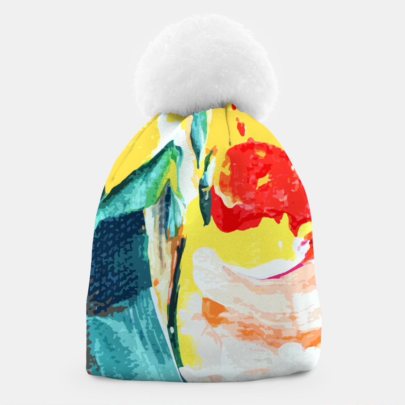 Image of Color Collage Beanie - Live Heroes