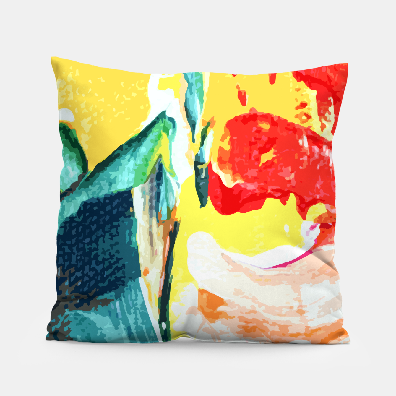Image of Color Collage Pillow - Live Heroes