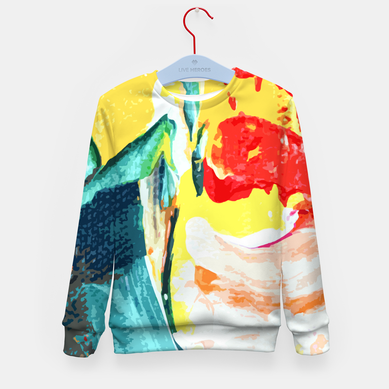 Image of Color Collage Kid's sweater - Live Heroes