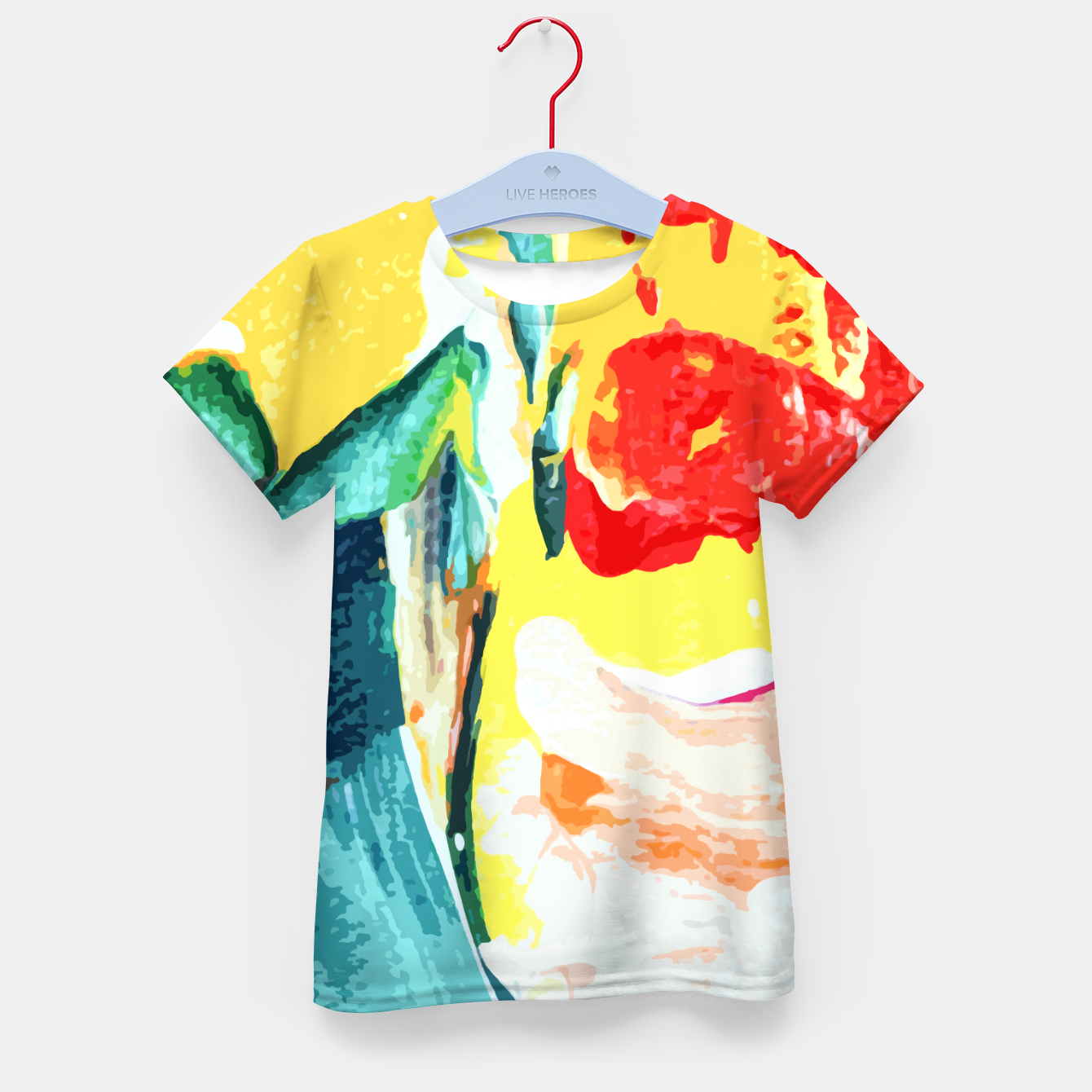 Foto Color Collage Kid's t-shirt - Live Heroes