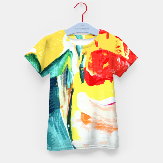 Color Collage Kid's t-shirt Bild der Miniatur