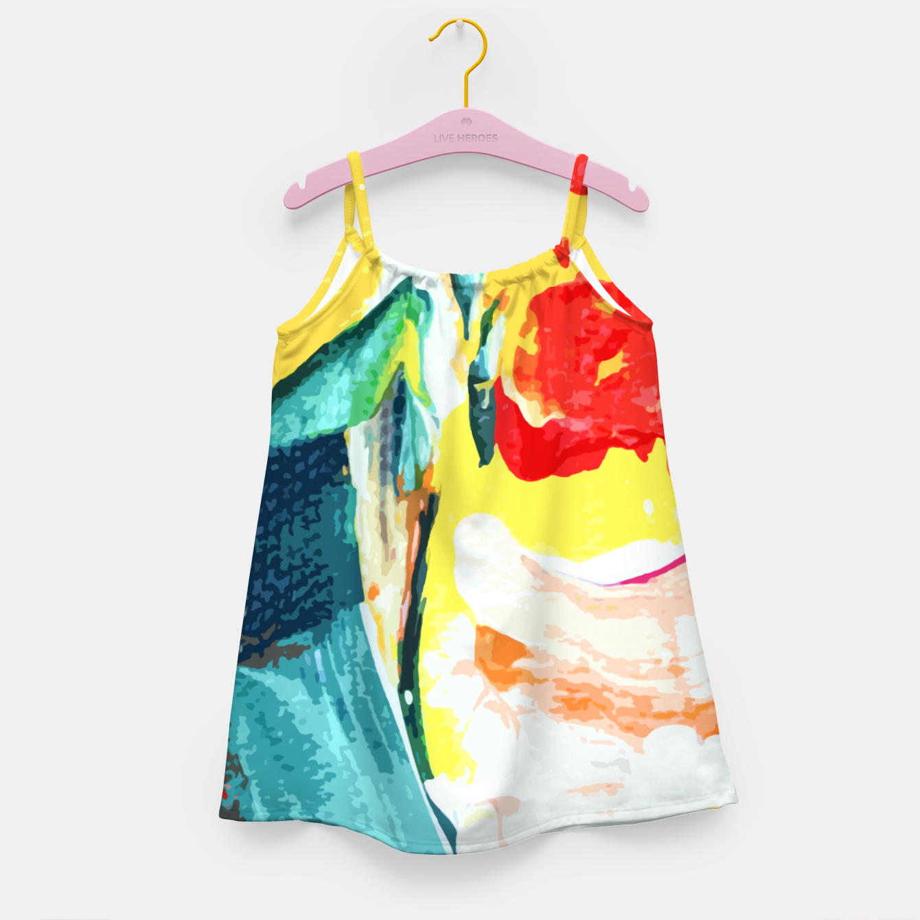 Image of Color Collage Girl's dress - Live Heroes