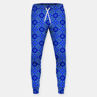 Thumbnail image of Blue Mandala Pattern Sweatpants, Live Heroes
