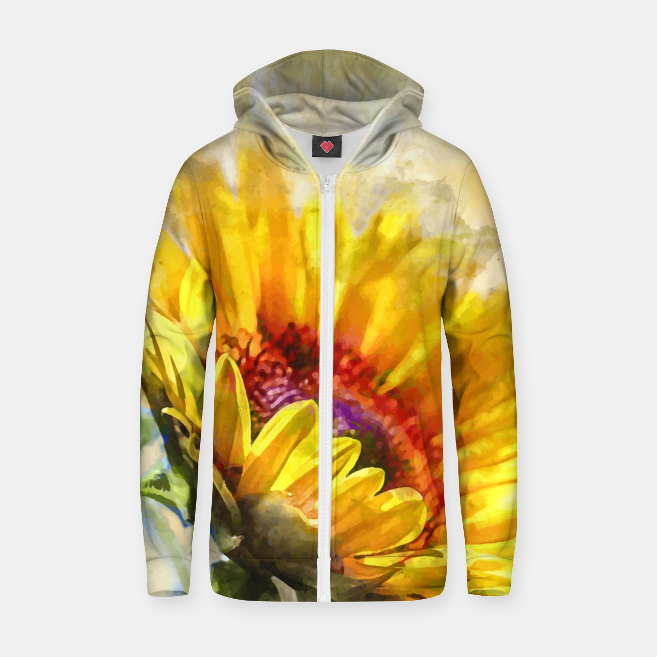 Image of Blossom Sunny Zip up hoodie - Live Heroes