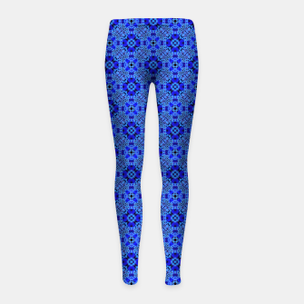 Thumbnail image of Blue Mandala Pattern Girl's leggings, Live Heroes