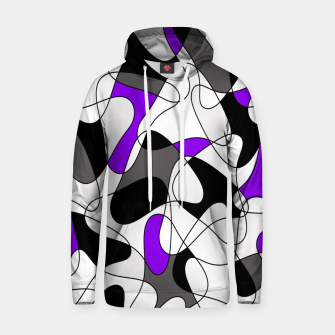 Thumbnail image of Abstract pattern - gray and purple. Hoodie, Live Heroes