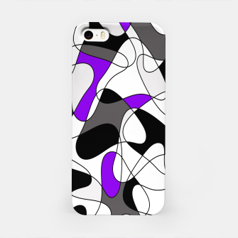 Miniature de image de Abstract pattern - gray and purple. iPhone Case, Live Heroes