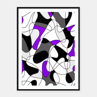 Miniature de image de Abstract pattern - gray and purple. Framed poster, Live Heroes
