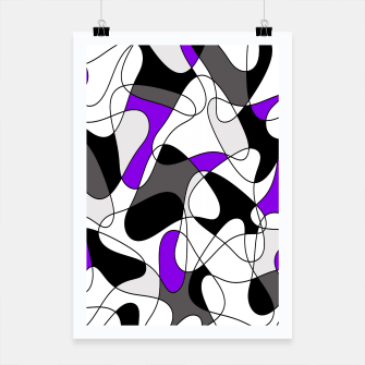 Miniature de image de Abstract pattern - gray and purple. Poster, Live Heroes