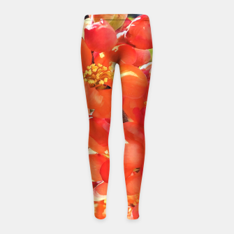 Thumbnail image of blooming quince Legginsy dziewczęce, Live Heroes