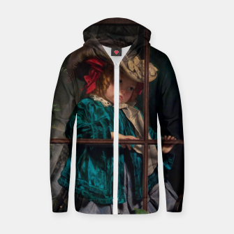 Thumbnail image of No Walk Today by Sophie Gengembre Anderson Zip up hoodie, Live Heroes