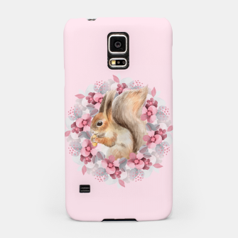 Miniatur Squirrel and flowers Samsung Case, Live Heroes