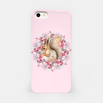 Miniatur Squirrel and flowers iPhone Case, Live Heroes