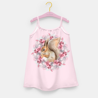 Miniatur Squirrel and flowers Girl's dress, Live Heroes