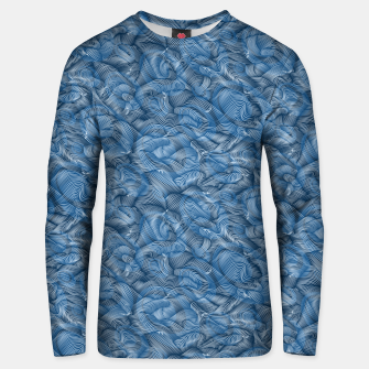 Slippery Fishes Floating in the Classic Blue Waves Unisex sweater Bild der Miniatur