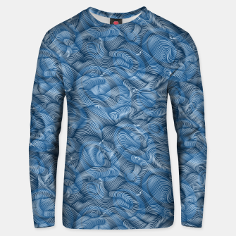 Thumbnail image of Slippery Fishes Floating in the Classic Blue Waves Unisex sweater, Live Heroes