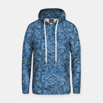 Slippery Fishes Floating in the Classic Blue Waves Hoodie Bild der Miniatur