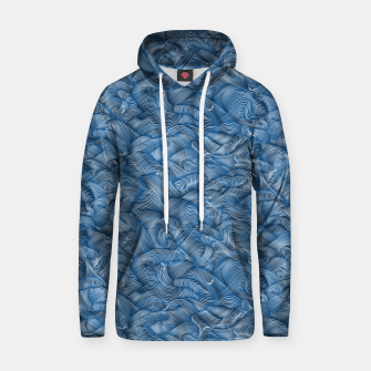 Thumbnail image of Slippery Fishes Floating in the Classic Blue Waves Hoodie, Live Heroes