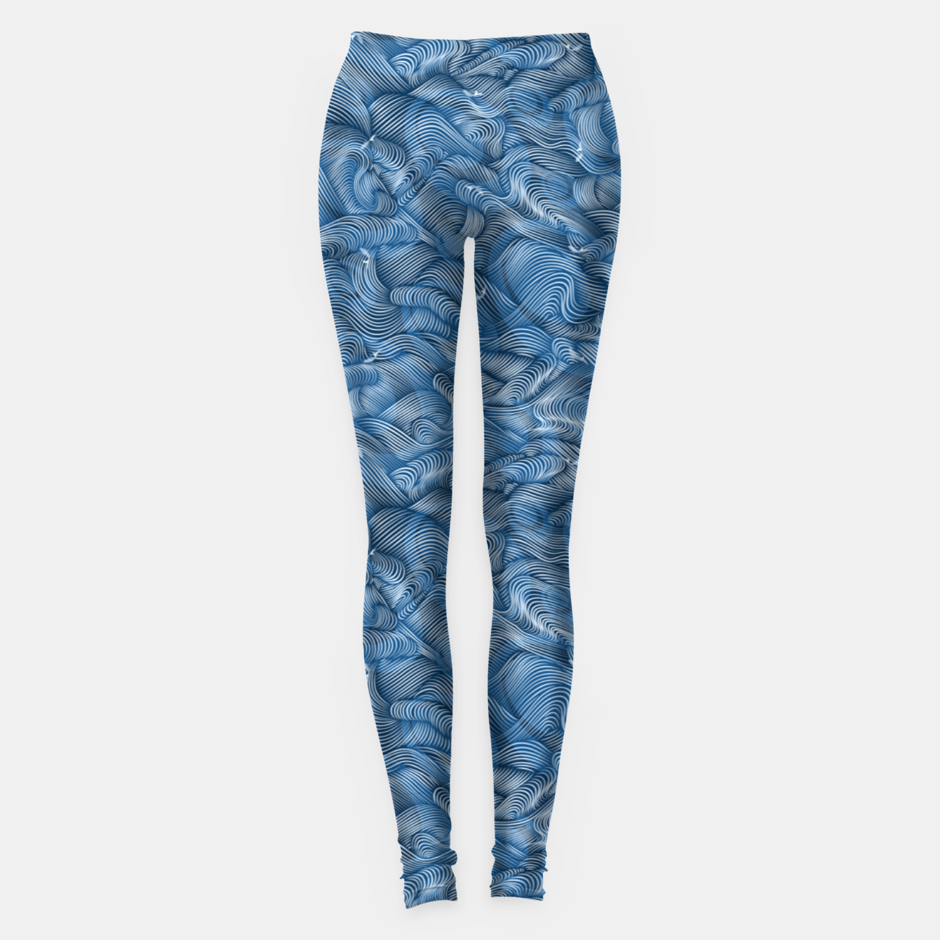 Foto Slippery Fishes Floating in the Classic Blue Waves Leggings - Live Heroes