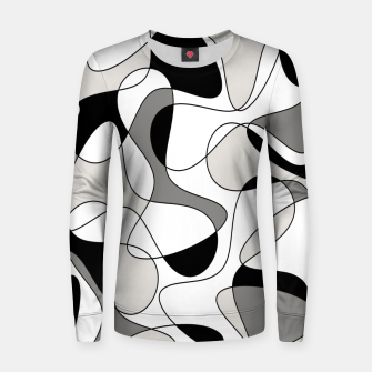Miniature de image de Abstract pattern - gray, black and white. Women sweater, Live Heroes