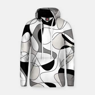 Thumbnail image of Abstract pattern - gray, black and white. Hoodie, Live Heroes