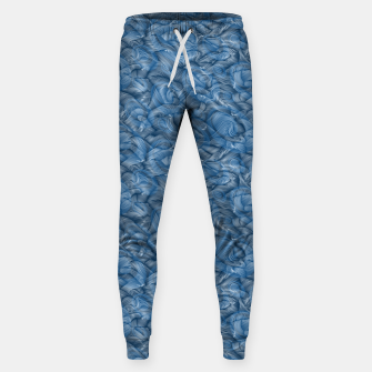 Slippery Fishes Floating in the Classic Blue Waves Sweatpants Bild der Miniatur