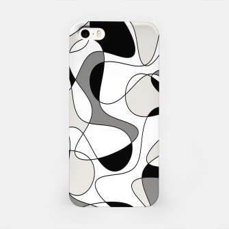 Miniature de image de Abstract pattern - gray, black and white. iPhone Case, Live Heroes
