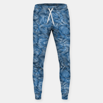 Miniatur Slippery Fishes Floating in the Classic Blue Waves Sweatpants, Live Heroes