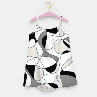 Miniature de image de Abstract pattern - gray, black and white. Girl's dress, Live Heroes