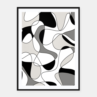 Miniature de image de Abstract pattern - gray, black and white. Framed poster, Live Heroes