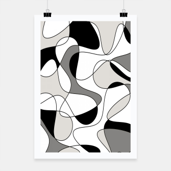 Miniature de image de Abstract pattern - gray, black and white. Poster, Live Heroes