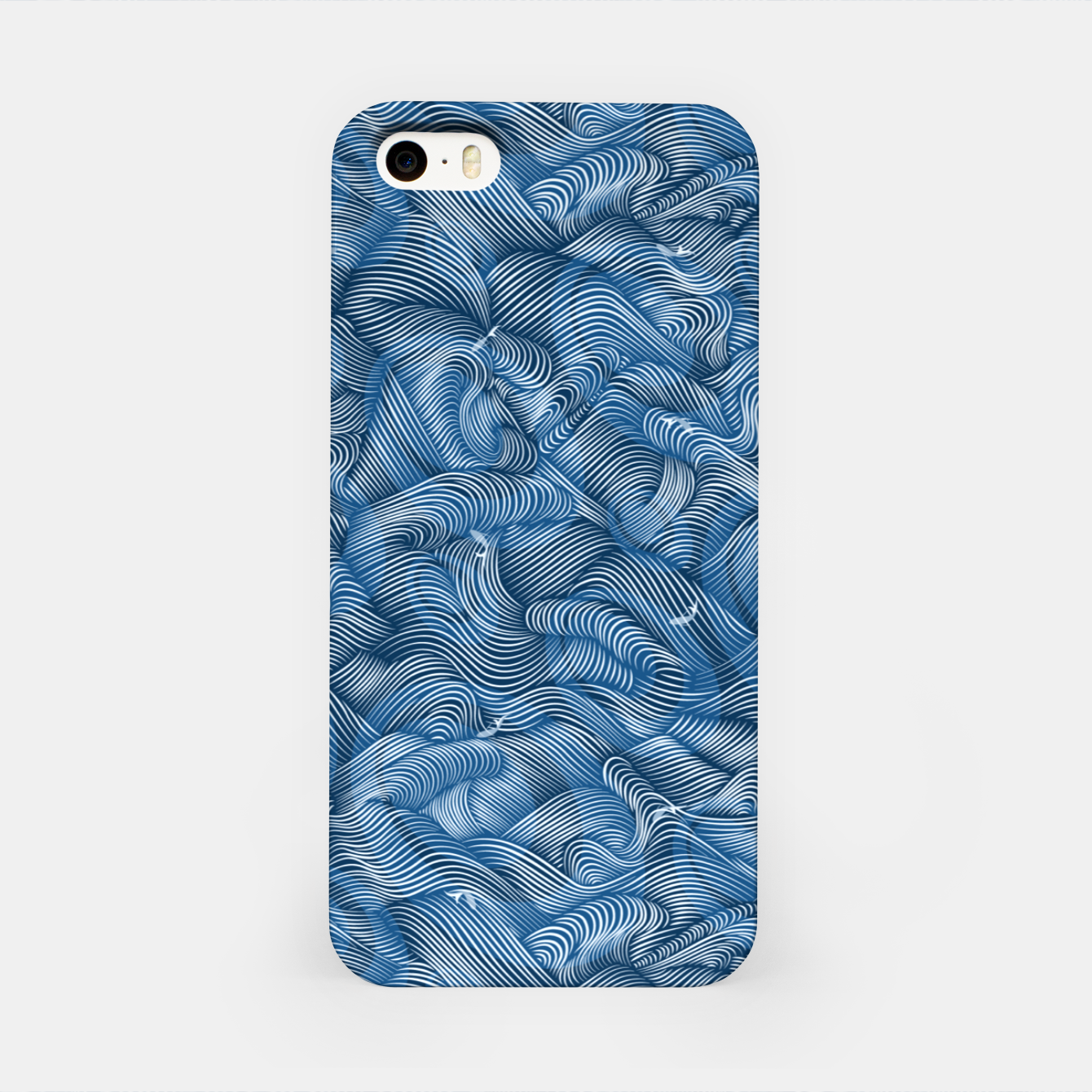 Foto Slippery Fishes Floating in the Classic Blue Waves iPhone Case - Live Heroes
